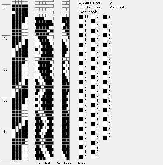 Эти схемы можно применять для составления рисунков жгутов с использованием разного размера бисера.